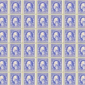1908 George Washington 15-cent periwinkle blue stamp sheet