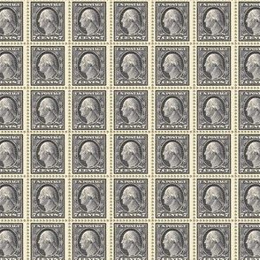 1912 George Washington black 7-cent endless stamp sheet