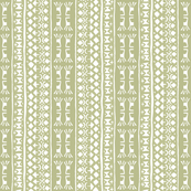 Tribal Warrior Stripe Faded Moss