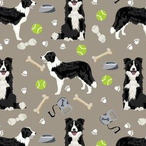 border collie toys tennis balls neutral medium brown fabric