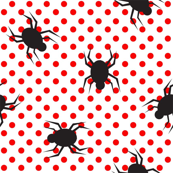 Ticks on red dots