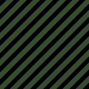 diagonal stripe fabric hunter green and black fabric