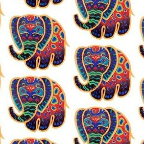 Rainbow Brightly Painted Baby Elephant