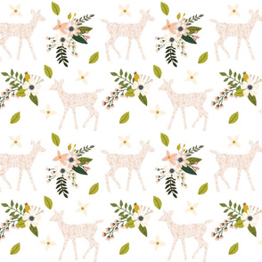blush sprigs and blooms fawn // small