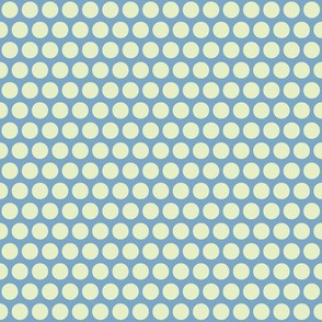baby elephant light blue cream polka