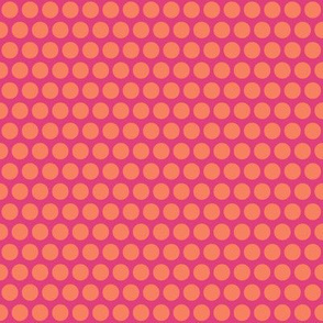 baby elephant pink orange polka