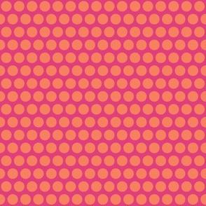 baby elephant pink orange polka