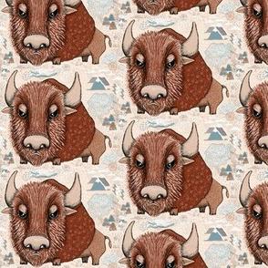 American Buffalo Bison Southwest Southwestern, small scale