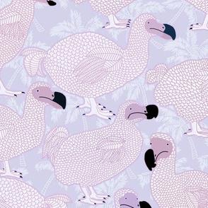 Dodos in Violet - LARGE