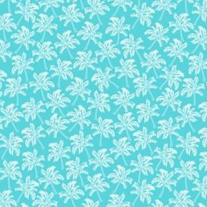 Palm Trees in Aqua - SMALL