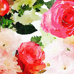 LARGE PRINT Watercolor Roses