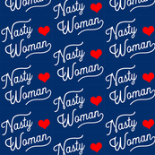 Small Nasty Woman Blue