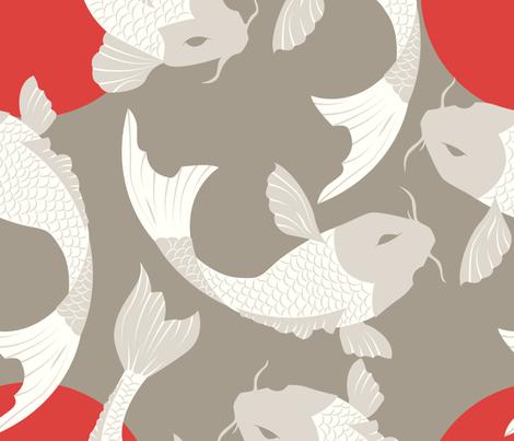 Koi fish pattern 002 fabric bluelela spoonflower for Koi fish material