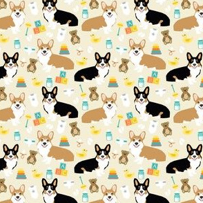 corgis baby fabric cute nursery expecting design corgi fabric