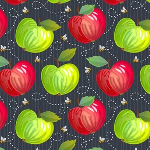 Fresh Apples - Dark - Charcoal