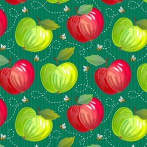 Fresh Apples - Dark - Green
