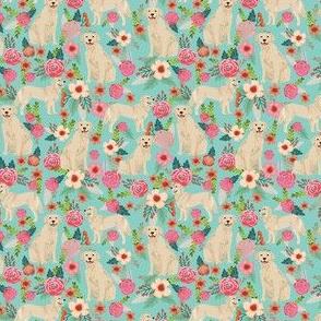 golden retriever dog fabric cute floral dogs design small print mini print