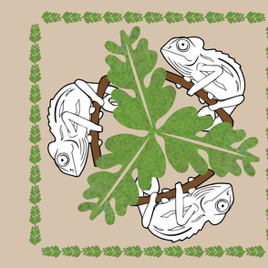 Chameleon_pillow panel