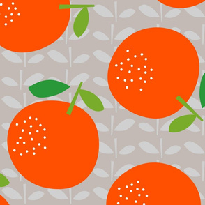 Giant Oranges (on grey)