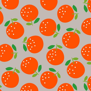 Oranges (on grey)