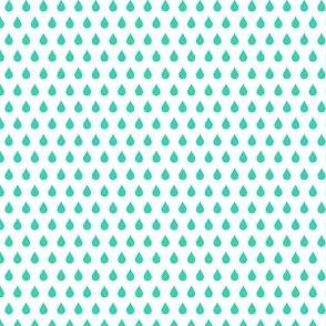 mod girl raindrops