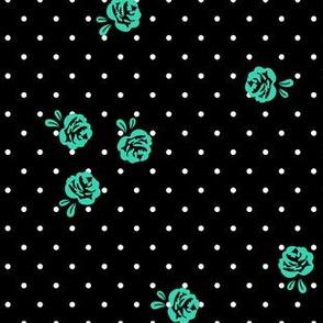 mod girl roses mint