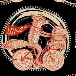 foxy fabric love black