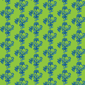 Third Tier Bouquet Sky Blue Lime Navy