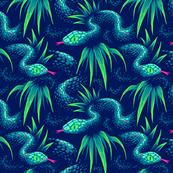 Mr Snake in the Rainforest - Green