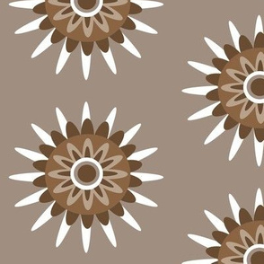 tan brown floral