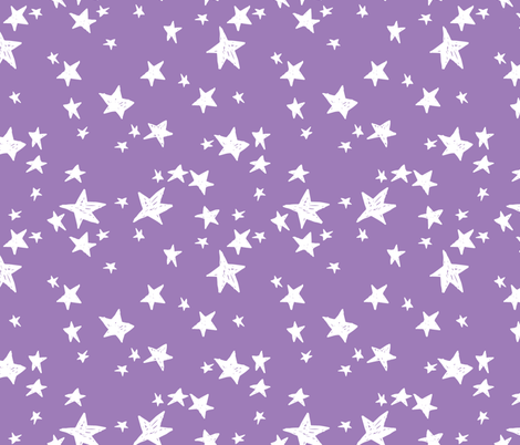 Stars amethyst purple star fabric nursery baby star for Purple baby fabric