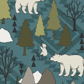 Bear Mountain - Aztec Teal