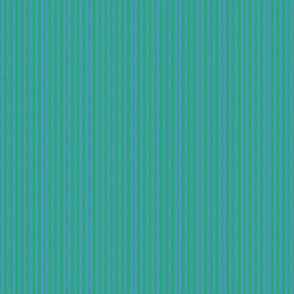 Third Tier Preppy Stripes Emerald Sky Blue