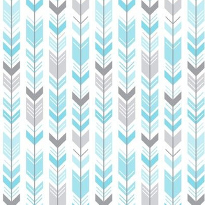 herringbone arrows sky blue