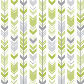 herringbone arrows lime green