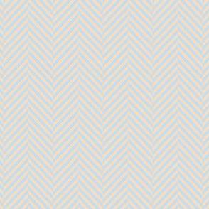 herringbone blue peach