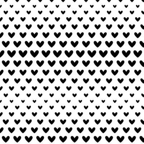 halftone hearts black