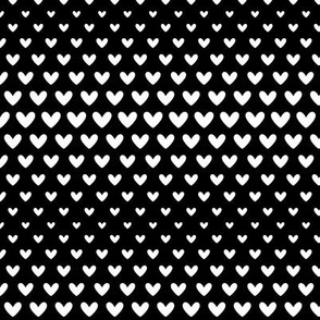 halftone hearts black reversed