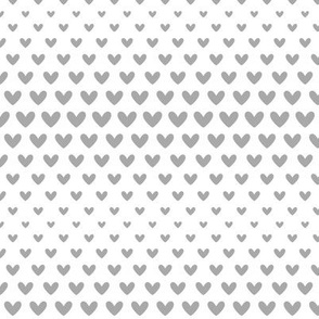 halftone hearts grey