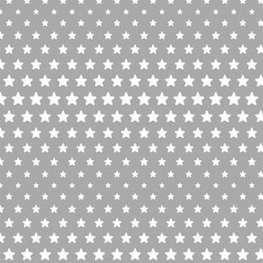 halftone stars grey reversed