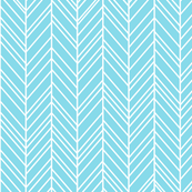 herringbone feathers sky blue
