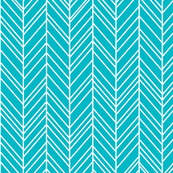 herringbone feathers surfer blue