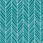 herringbone feathers dark teal