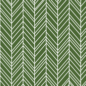 herringbone feathers hunter green