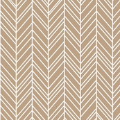 herringbone feathers tan
