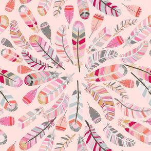 motif_plume_fond_saumon_L