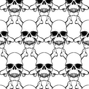 Skulls Black & White