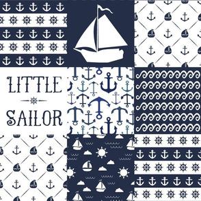 Little Sailor Patchwork Quilt Top