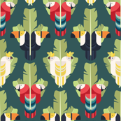 Rainforest Birds / Toucan, Parrot, Cockatoo