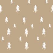 Pine trees - tan